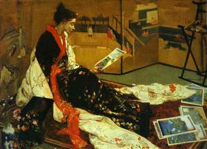 James Abbott Mcneill Whistler - Caprice in Lila und Gold No 2 - The Golden Screen