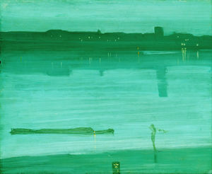 James Abbott Mcneill Whistler - nocturne in blau und grün , Chelsea