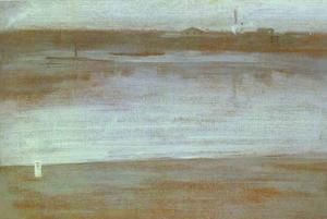 James Abbott Mcneill Whistler - symphonie in grau , früher morgen Thames