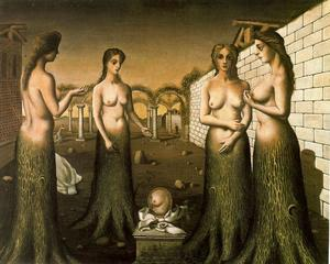 Paul Delvaux - der `break` von tag