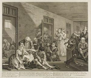 William Hogarth - Plate acht , von einem Rake's Progress