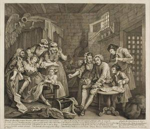 William Hogarth - Plate sieben , von einem Rake's Progress