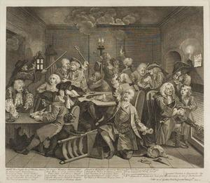 William Hogarth - Plate sechs , von einem Rake's Progress