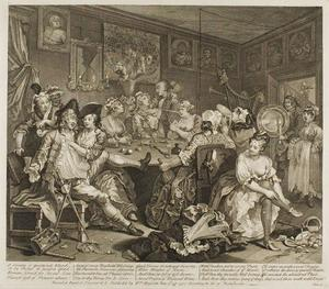William Hogarth - Plate drei , von einem Rake's Progress