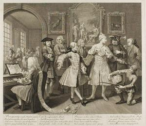 William Hogarth - Plate zwei , von einem Rake's Progress