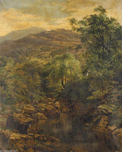 Benjamin Williams Leader - a ruhig pool in `glenfalloch
