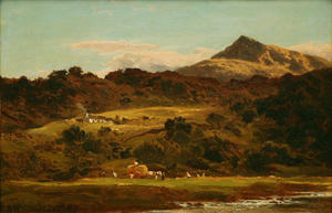 Benjamin Williams Leader - MOEL Siabod VOM Llugwy BELOW CAPEL Curig
