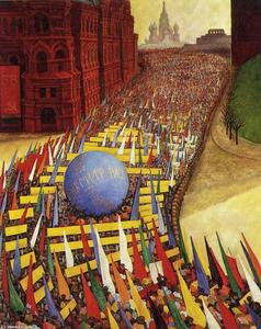 Diego Rivera - kann tag `procession` in moskau