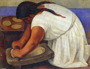 Diego Rivera - Woman Grinding Maize
