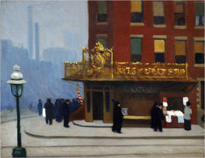 Edward Hopper - new york Ecke ( Ecke Salon )