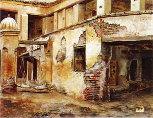 Edwin Lord Weeks - Courtyard in Marokko