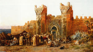 Edwin Lord Weeks - Gate of Shehal, Marokko