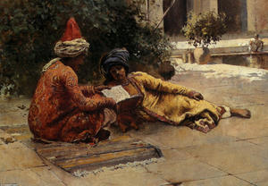 Edwin Lord Weeks - Zwei Araber Lese