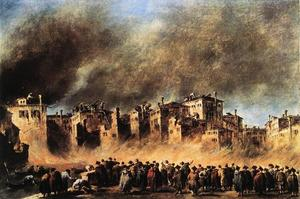 Francesco Lazzaro Guardi - Fire in the Oil Depot bei San Marcuola