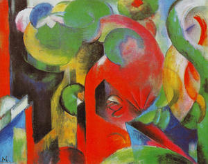Franz Marc - kleine komposition iii