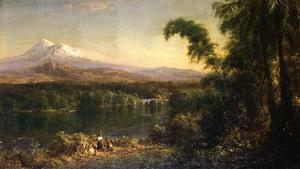 Frederic Edwin Church - figuren in ein `ecuadorian` landschaft
