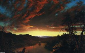 Frederic Edwin Church - Dämmerung in der  wildnis