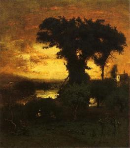 George Inness - Abendrot