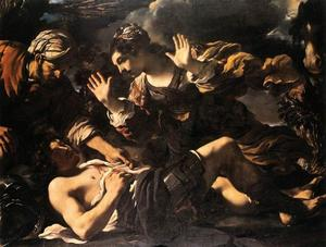 Guercino (Barbieri, Giovanni Francesco) - Ermina Sucht das Wounded Tancred