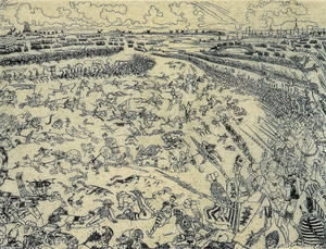 James Ensor - schlacht von der golden `spurs`