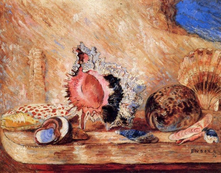 Coquillages von James Ensor (1860-1949, Belgium) | WahooArt.com