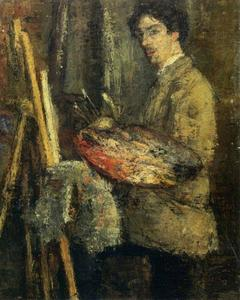 James Ensor - Portrait de l' künstler au chevalet