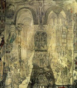 James Ensor - Soudards Büßer dans une cathedrale