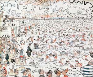 James Ensor - Die Bäder in Ostend