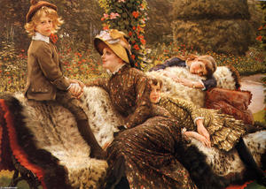 James Jacques Joseph Tissot - Die Garten-Bank