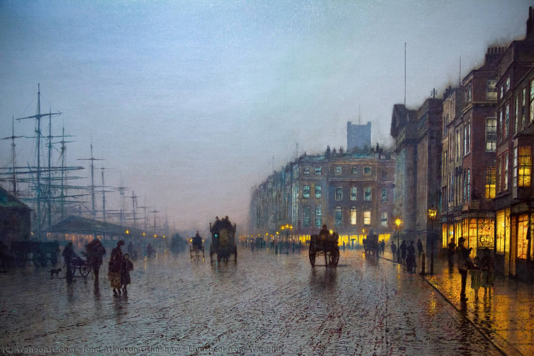Liverpool aus Wapping, 1875 von John Atkinson Grimshaw (1836-1893, United Kingdom)