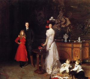 John Singer Sargent - sir george sitwell , lady ida sitwell und familie