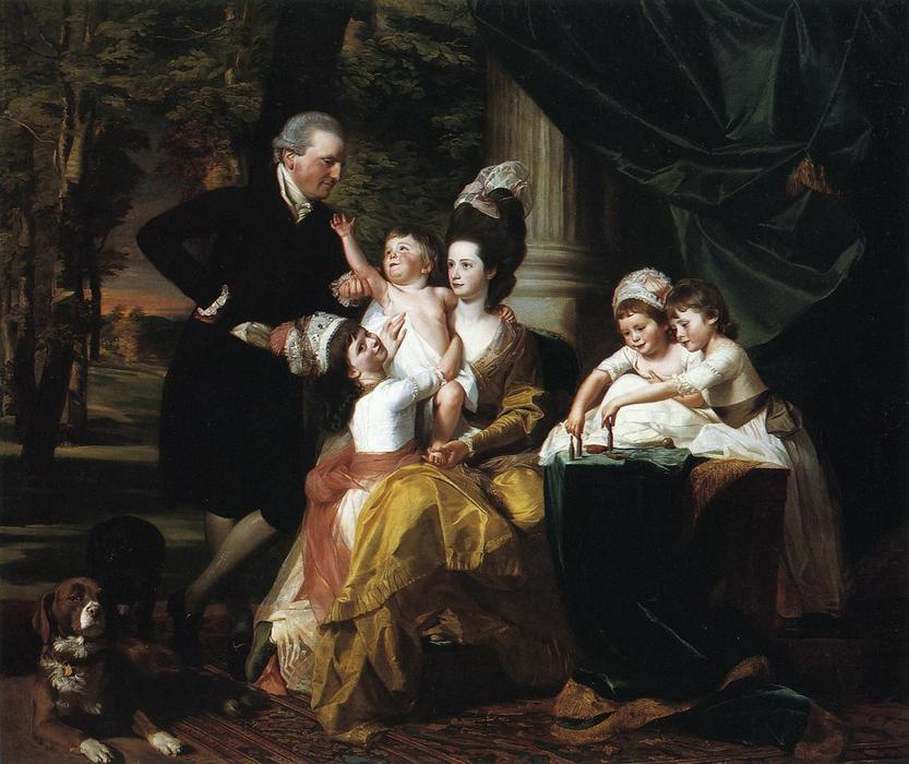 Sir William Pepperrell und Familie, 1778 von John Singleton Copley (1738-1815, United Kingdom) | Kunstdrucke Auf Leinwand | WahooArt.com