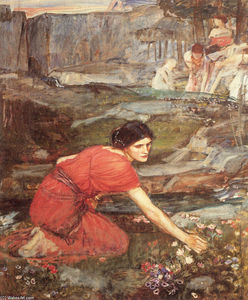 John William Waterhouse - Maidens Kommissionierung studie