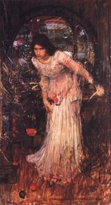 John William Waterhouse - Die dame von shalott studiert