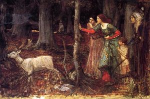 John William Waterhouse - der mystisch wald