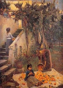 John William Waterhouse - Das Orange-Sammler