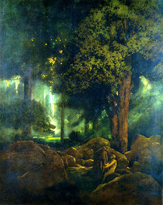 Maxfield Parrish - adam und eva