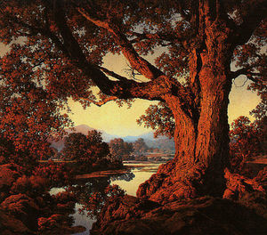 Maxfield Parrish - Riverbank im Herbst
