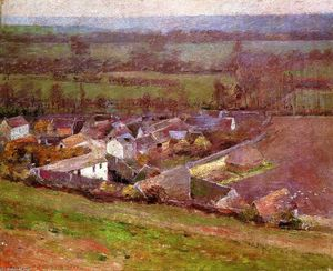 Theodore Robinson - Bird's perspektive . Giverny