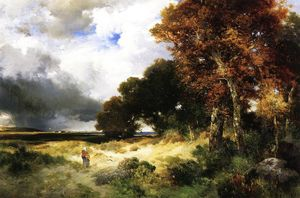 Thomas Moran - Herbst , Peconic Bucht , lang insel