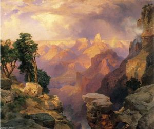 Thomas Moran - grand canyon mit regenbogen