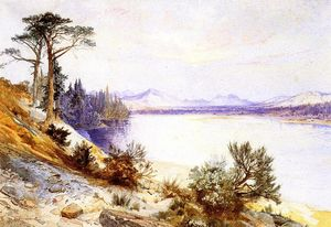 Thomas Moran - kopf von der  Yellowstone stone~~pos=headcomp  fluss