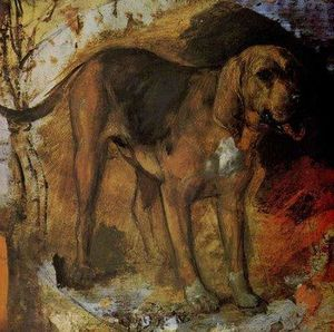 William Holman Hunt - A Bloodhound