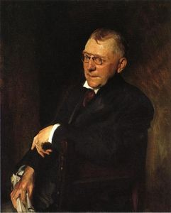 William Merritt Chase - Porträt von James Whitcomb Riley