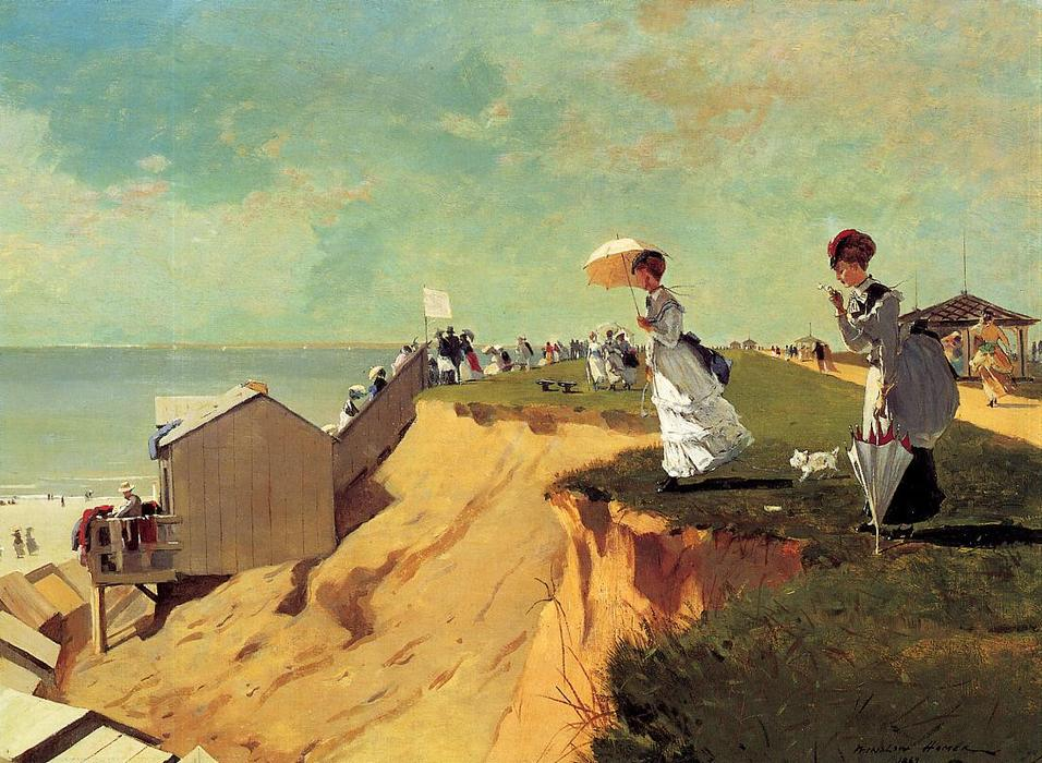 Long Branch, New Jersey, öl auf leinwand von Winslow Homer (1836-1910, United States)