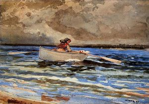 Winslow Homer - Rudern in Prouts Neck