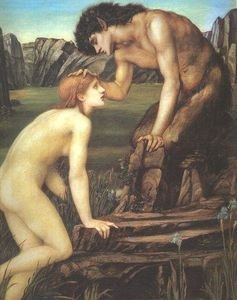 Edward Coley Burne-Jones - Pan und Psyche