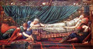 Edward Coley Burne-Jones - Die Rose Bower