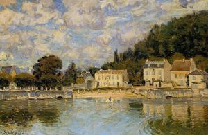 Alfred Sisley - Wobei Horses at Marly le Roi Watered