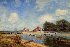Alfred Sisley - Loing Dam in Saint Mammes